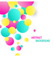 colorful circle background abstract circle design vector image