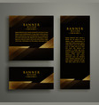dark premium golden template banner card design vector image vector image