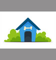 dog house training vector image vector image