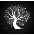 Doodle tree black and white color vector image vector image