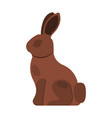 easter chocolate bunny icon chocolate rabbit vector image