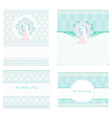 elegant wedding invitation set vector image vector image