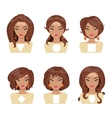 Face shape vector image vector image
