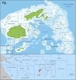 Fiji map vector image vector image
