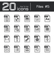 files icon set 5 vector image