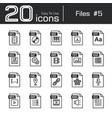 files icon set 5 vector image vector image
