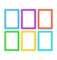 flat frame set vector image vector image