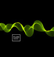 flow shapes design abstract 3d green light vector image vector image