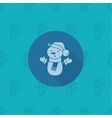 Funny Snowman With Scarf vector image vector image