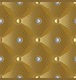 gold 3d stars and sun seamless pattern greek vector image vector image