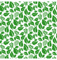 green leaves pattern seamless background vector image vector image