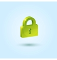 Green Lock Safe Icon vector image vector image