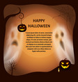 happy halloween poster with text sample vector image
