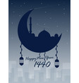 happy new year islamic 1440 vector image