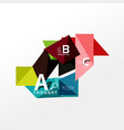 infographic option banner vector image