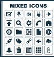 interface icons set collection of load siren vector image vector image