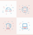 internet of things thin line icons set vector image vector image