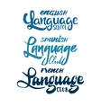 language club badges and labels elements for your vector image