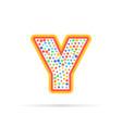 letter y symbol vector image vector image