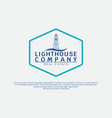 lighthouse vintage simple modern logo template vector image vector image