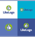 like logo and icon vector image vector image