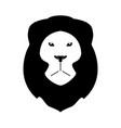 lion head the black color icon vector image vector image