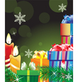 Magic green Christmas background vector image