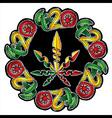 marijuana jamaican style design stamp vector image vector image