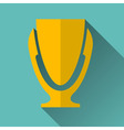 Modern Trophy Cup Icon vector image vector image