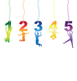 number jumper tag labels vector image vector image