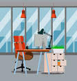 office interior modern business workspace vector image vector image