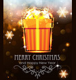 orange christmas gift on holiday background vector image vector image