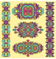 ornamental decorative ethnic floral adornment for vector image