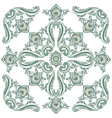 pattern green vector image vector image