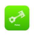 piston icon green vector image