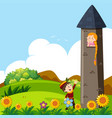 prince and princess in the tower vector image vector image