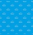 rainy cloud pattern seamless blue vector image vector image
