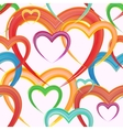Seamless background of watercolor hearts vector image vector image
