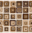 seamless chocolate brown square pattern vector image