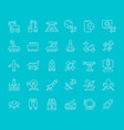 set line icons space technology vector image