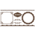set of decorative frame vector image