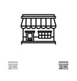shop online market store building bold and thin vector image vector image