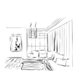 Sketch of a interior vector image vector image