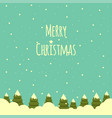 snow landscape with christmas trees background vector image vector image