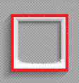snowfalls on red and white frame vector image vector image