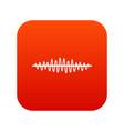 sound wave icon digital red vector image vector image