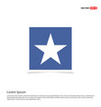 star icon - blue photo frame vector image