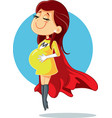 super mom pregnant super heroine character vector image vector image