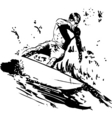 surfer short board vector image vector image