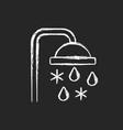 taking cold bath or shower chalk white icon